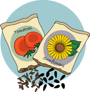 Clipart seed packets