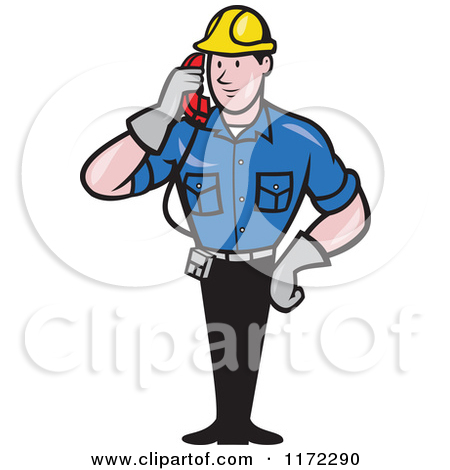 Royalty-Free (RF) Service Man Clipart, Illustrations, Vector ... png black and white