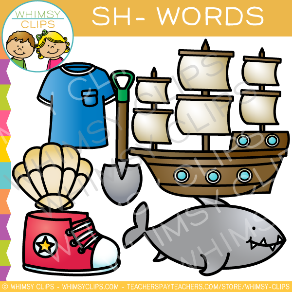 Clipart sh png library download Sh words clip art , Images & Illustrations | Whimsy Clips ® png library download