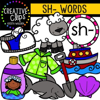 Clipart sh picture royalty free stock Digraphs - SH Words {Creative Clips Digital Clipart} picture royalty free stock