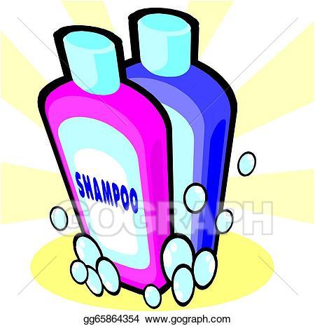 Clipart shampoo bottle clipart black and white library Clip Art Vector - Bottles of shampoo. Stock EPS gg65864354 - GoGraph clipart black and white library