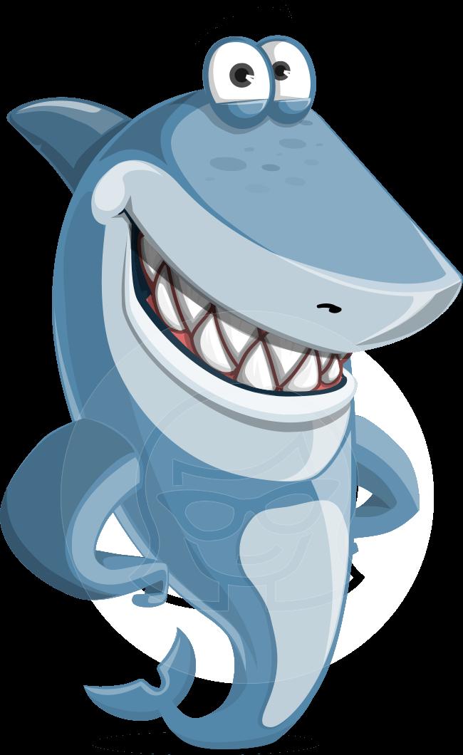 Clipart shark stories book comic clip art free Smiling shark cartoon illustration. Vector character suitable for ... clip art free