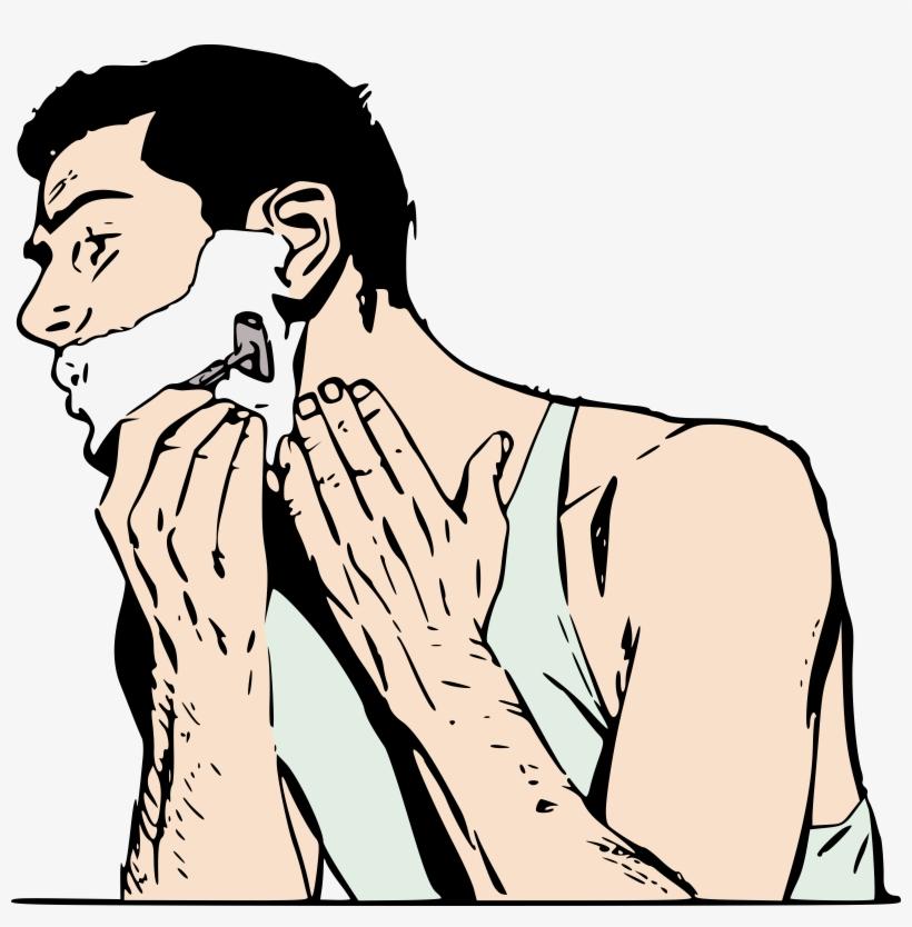 Clipart shave clip art free Clip Art Freeuse Stock Man Shaving Colour Big Image - Man Shaving ... clip art free