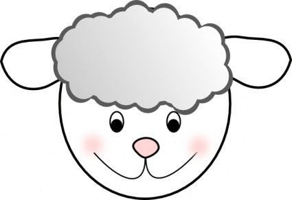 Clipart sheep face svg free library Lamb Face Clip Art | Clipart Panda - Free Clipart Images | crafts ... svg free library