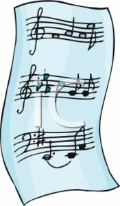 Clipart sheet music clipart royalty free Clipart Picture of a Piece of Sheet Music clipart royalty free