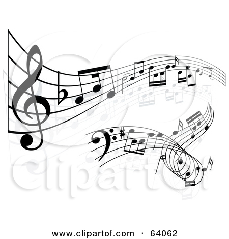 Clipart sheet music image free Clipart Illustration of a Closeup Of Sheet Music With Notes In ... image free