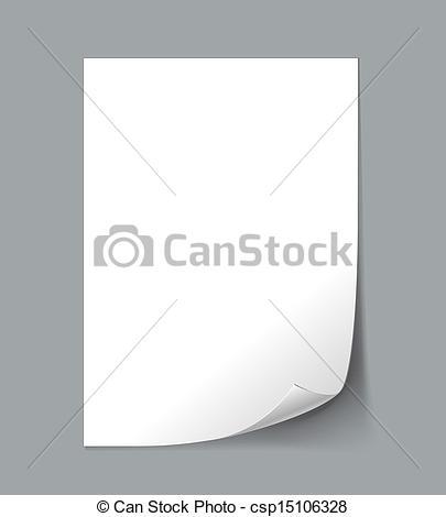 Clipart sheet paper stock Vector Illustration of Empty paper sheet - Vector White Empty ... stock