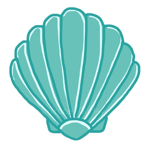 Clipart shell picture freeuse download Seashell clip art sea shells clip art seashells 2 image 3 | Tattoo ... picture freeuse download