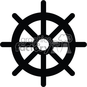 Ship steering wheel clipart black and white png library ship steering wheel vector icon . Royalty-free icon # 403005 png library