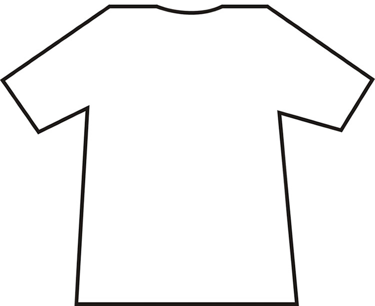 Free T Shirt Outline Template, Download Free Clip Art, Free Clip Art ... banner black and white stock