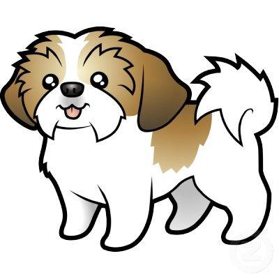 Clipart shitzu clip royalty free stock It\'s cartoon Rocky | Puppies! | Puppy drawing, Shih tzu, Cartoon ... clip royalty free stock