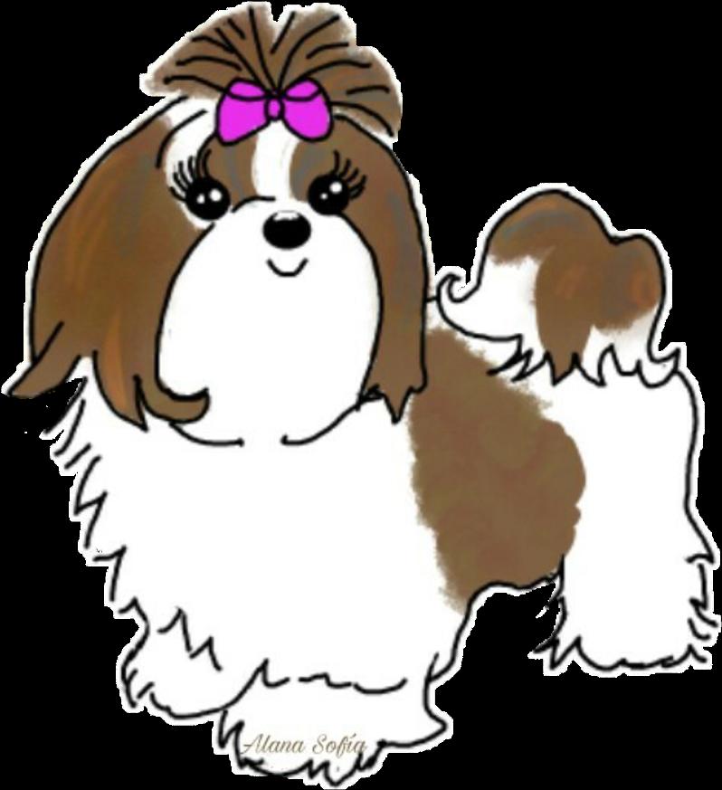Clipart shitzu png black and white library Shihtzu Dog Puppy Sticker Stickers - Dog Clipart - Full Size Clipart ... png black and white library