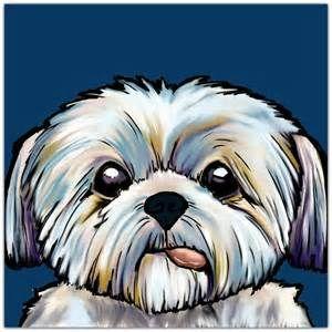 Clipart shitzu free library cartoon shih tzus - Bing images | Drawing | Dog pop art, Dog art ... free library