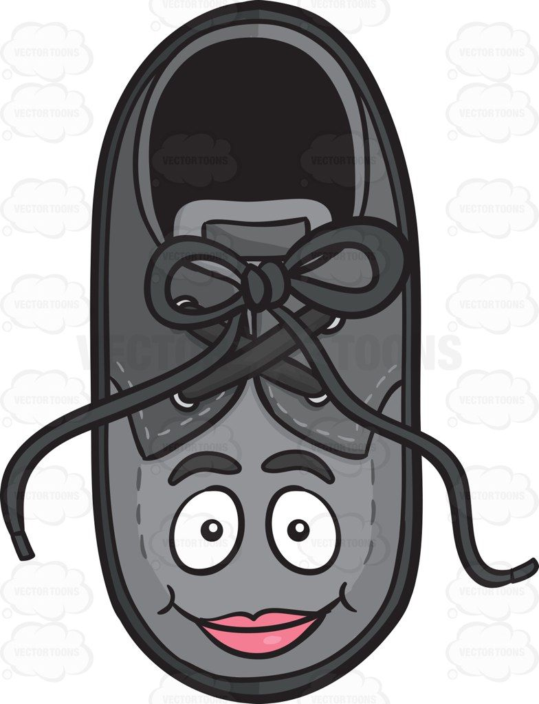 Clipart shoestrings png download Happy Faced Bow-Tied Shoe Emoji #apparel #bow #clothe ... png download