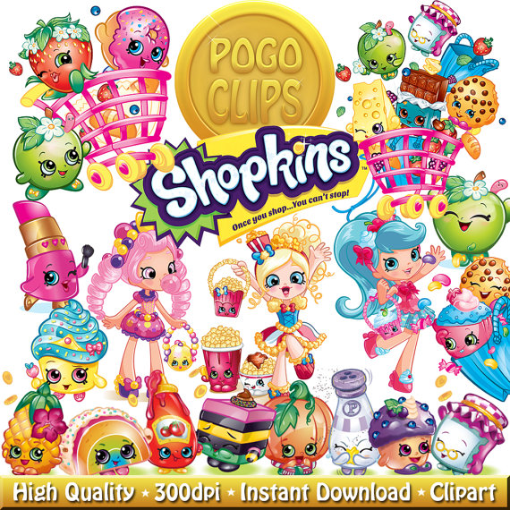 Clipart shopkins jpg freeuse 50 High quality Shopkins / Clip Art DIY Instant Download Printable ... jpg freeuse