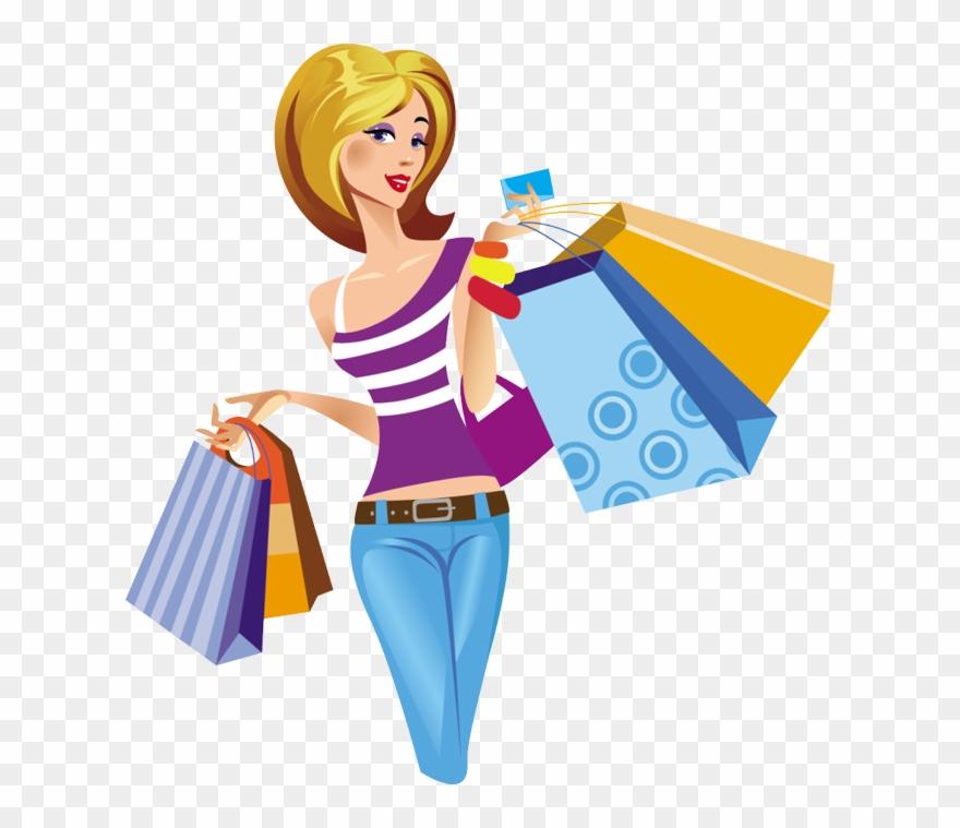 Shoppinh clipart vector royalty free library Shopping Girl Clipart Shopping Clip Art - Shopping Girl - Png ... vector royalty free library