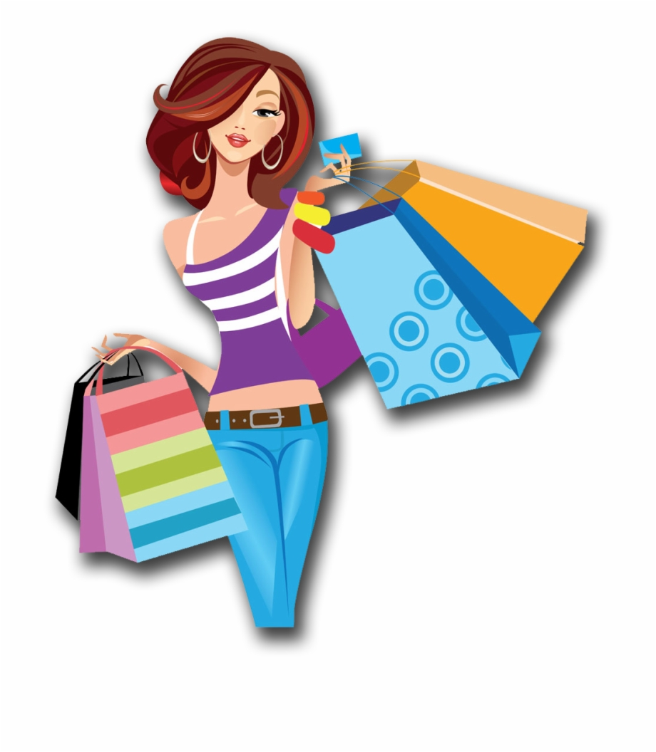Womens shopping clipart image freeuse download Shopping Cartoon Women Png Image High Quality Clipart - Shopping ... image freeuse download