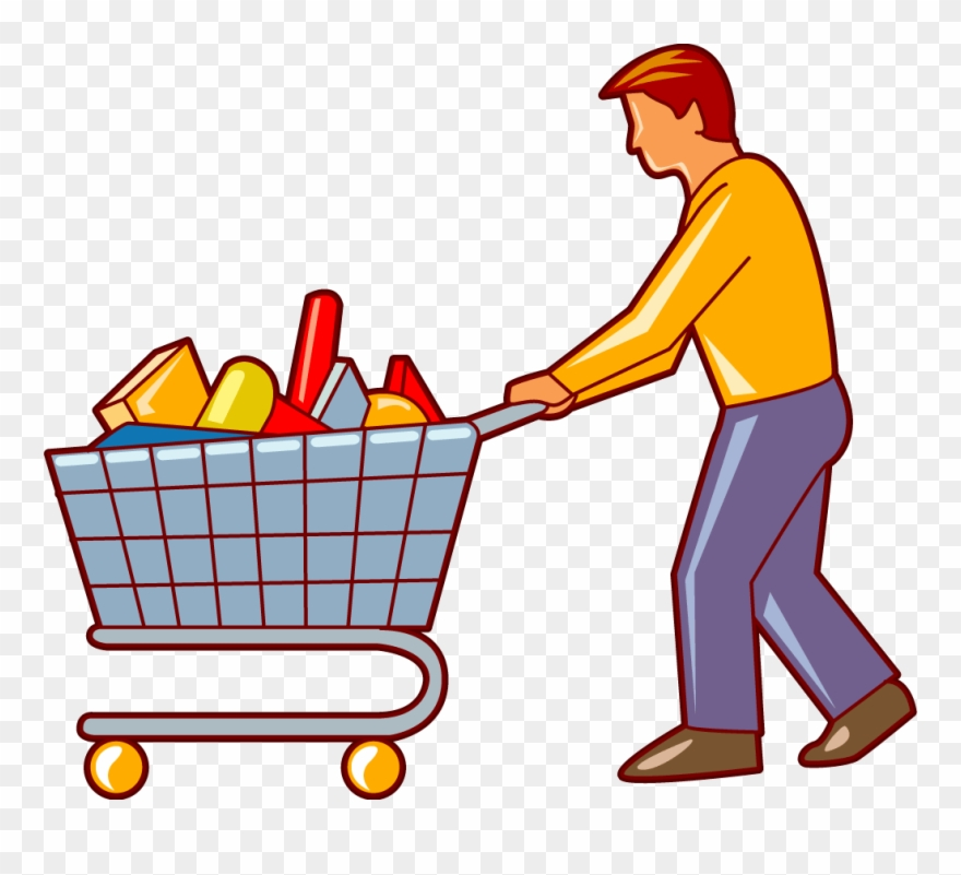 Shopping cart full of water bottles cart clipart picture library download Cart Clipart - Shopping Trolley Clipart Man - Png Download (#1204529 ... picture library download