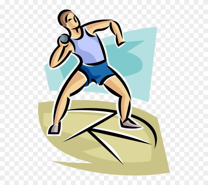 Clipart shot put svg transparent Track Meet Competitor Throws Shot Put - Athletics Track Shot Put ... svg transparent