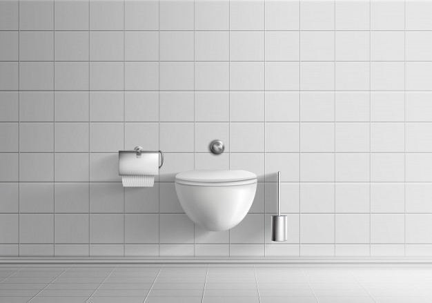 Clipart shower stall realistic black and white royalty free library Modern toilet room minimalistic interior realistic vector mockup ... royalty free library