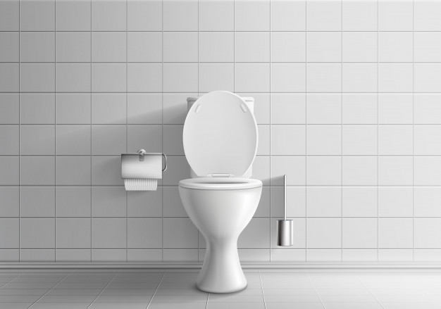 Clipart shower stall realistic black and white graphic royalty free library Modern toilet room interior 3d realistic vector mockup with tiled ... graphic royalty free library