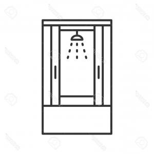 Clipart shower stall realistic black and white png free stock Shower Cabin Transparent Realistic D Collection | Savoyuptown png free stock