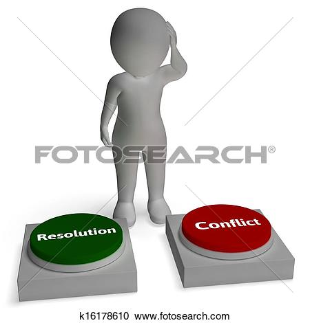 Clipart showing conflict graphic black and white Stock Illustration of My Or Your Way Signpost Showing Conflict Or ... graphic black and white
