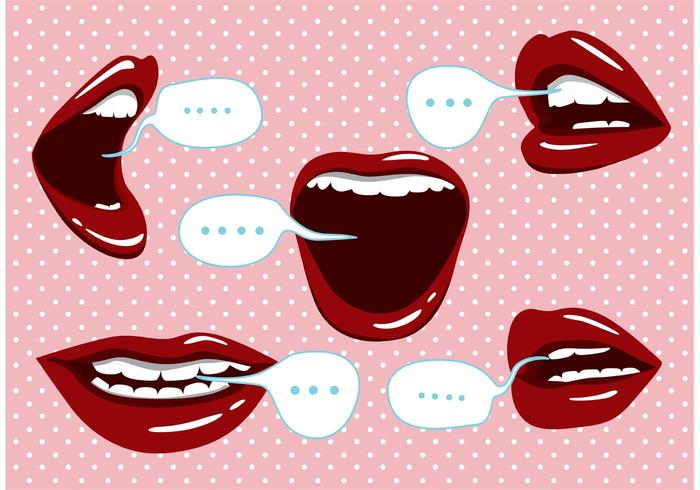 Clipart showing profile view of mouth speaking vector library Mouth Free Vector Art - (19,960 Free Downloads) vector library