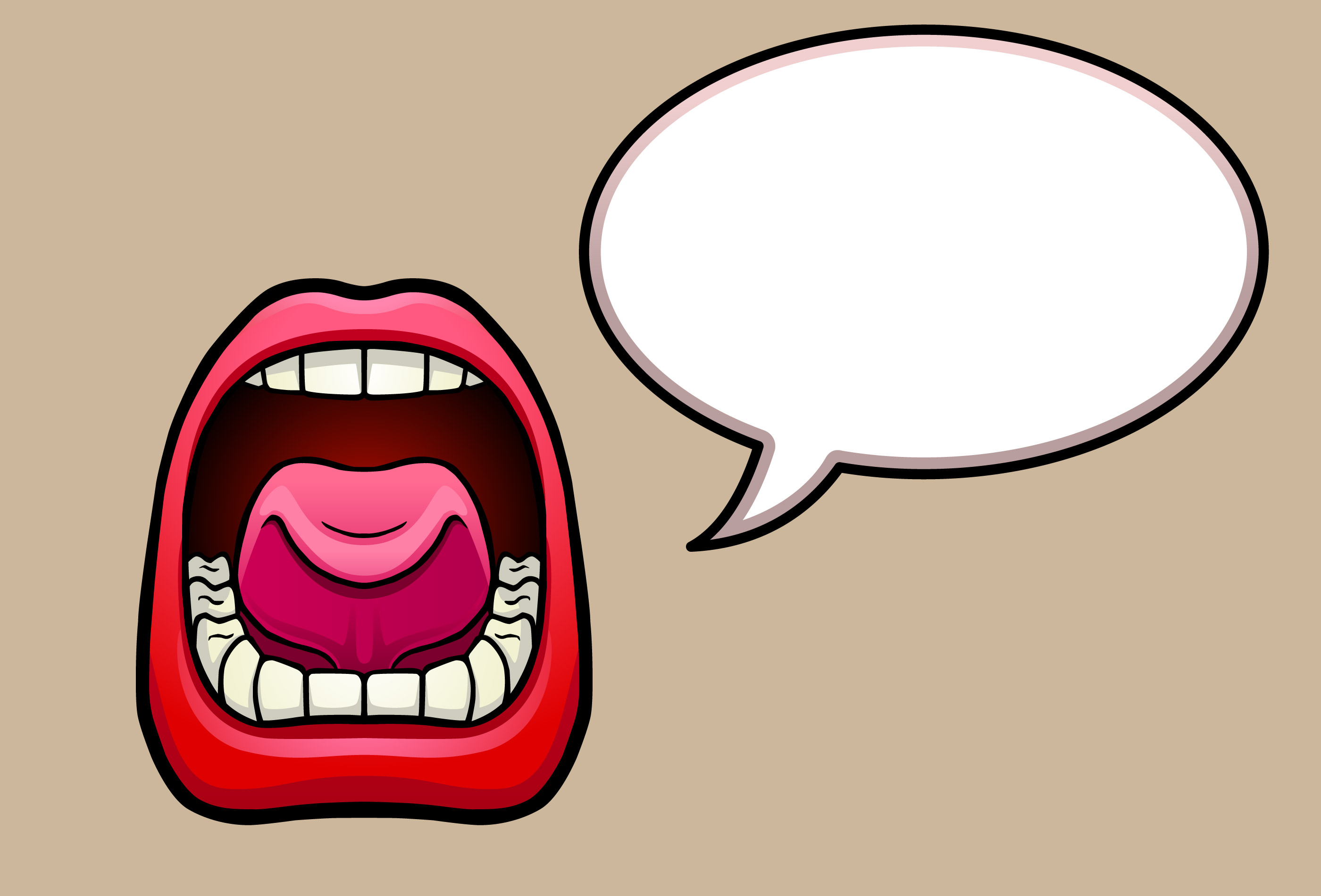 Clipart showing profile view of mouth speaking png free stock Free Open Mouth Clipart, Download Free Clip Art, Free Clip Art on ... png free stock