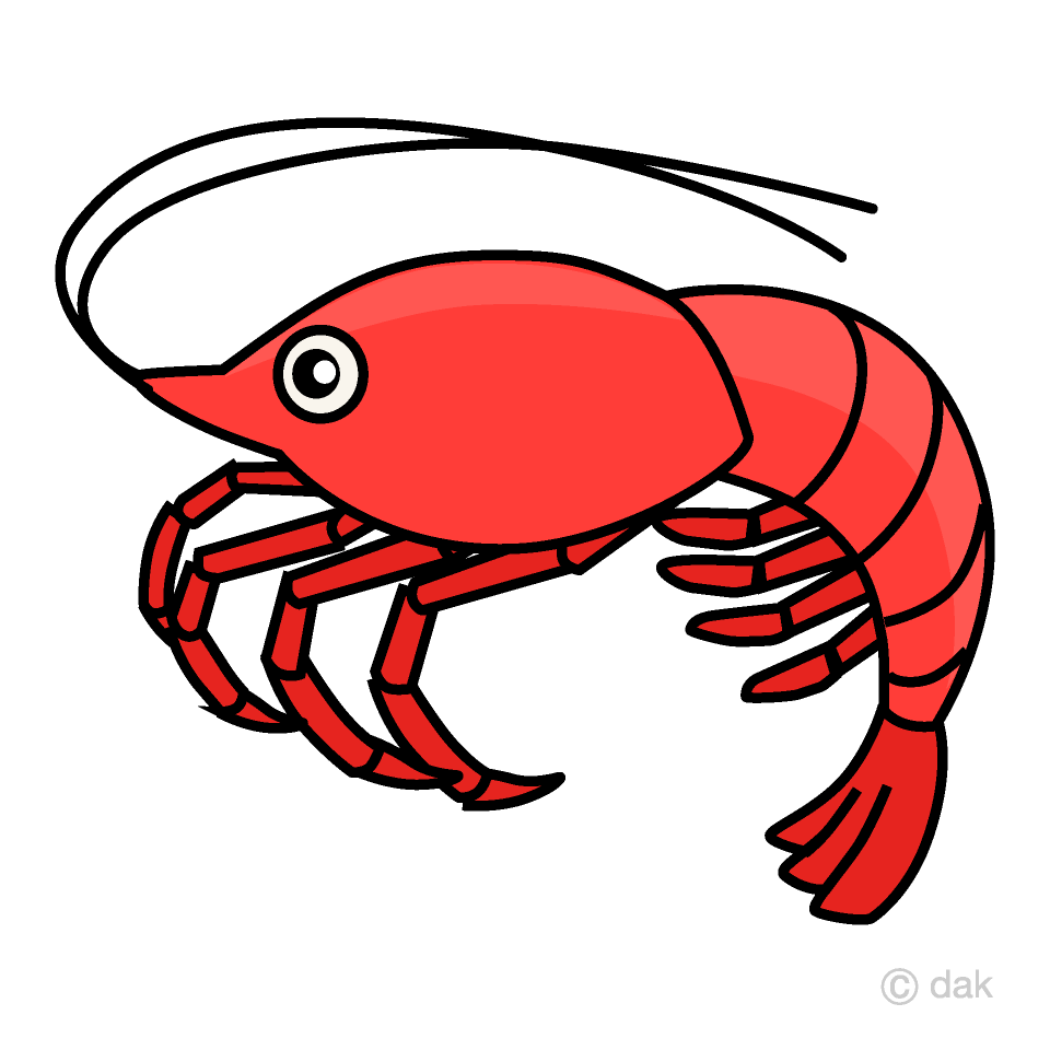Clipart shrimp svg library stock Shrimp Clipart Free Picture|Illustoon svg library stock