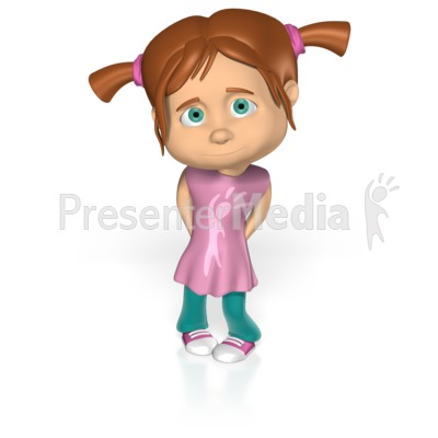 Clipart shy girl banner free download Cute Shy Girl Custom - Custom Text - Great Clipart for Presentations ... banner free download