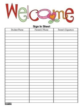 Clipart sign in sheet black and white library Sign In Sheet Clipart - clipartsgram.com black and white library