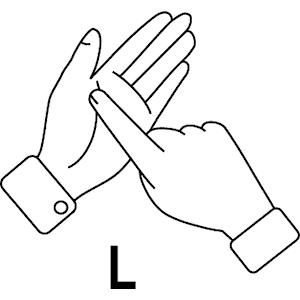 Clipart sign language clipart transparent download L In Sign Language - ClipArt Best clipart transparent download