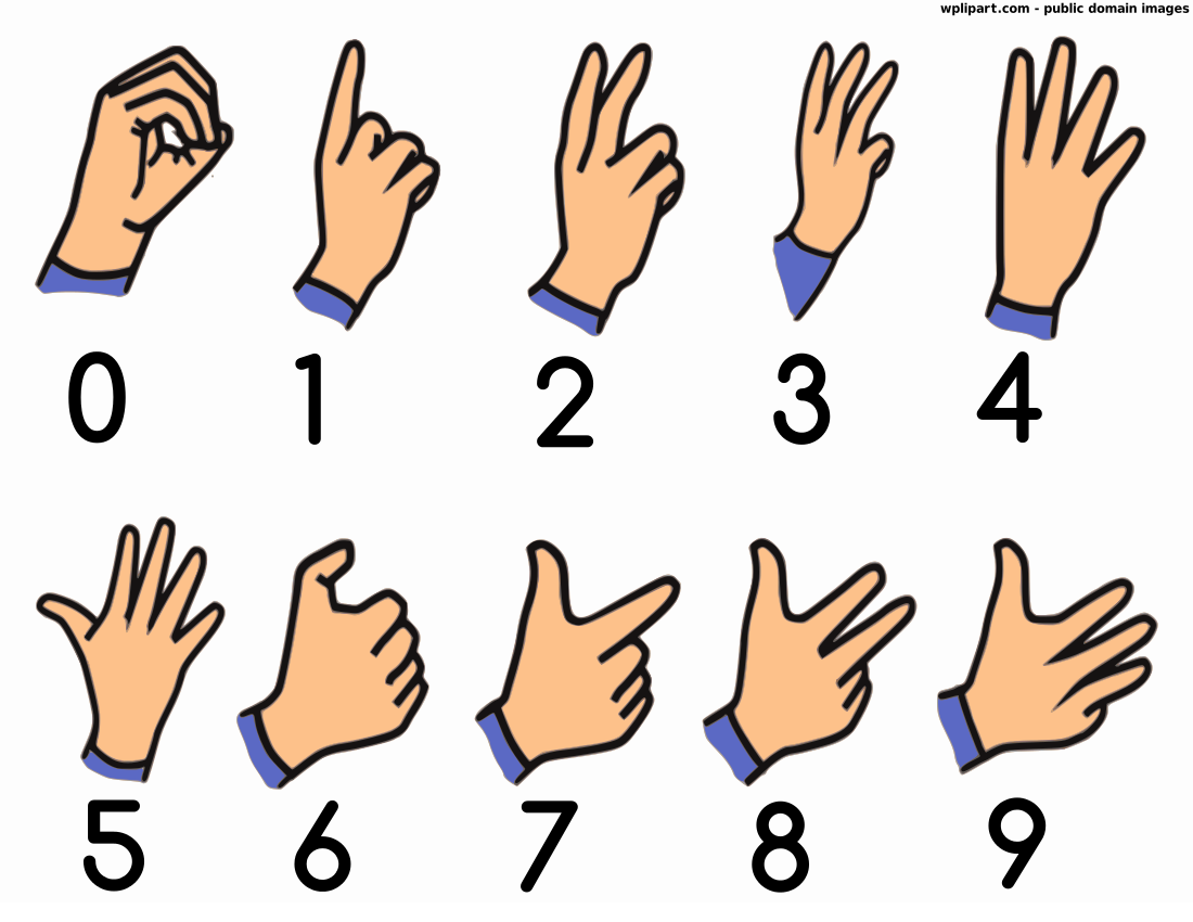 Clipart sign language png stock British sign language numbers - /sign_language ... png stock