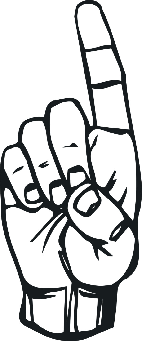 Clipart sign language png freeuse stock Sign language D finger | Clipart Panda - Free Clipart Images png freeuse stock