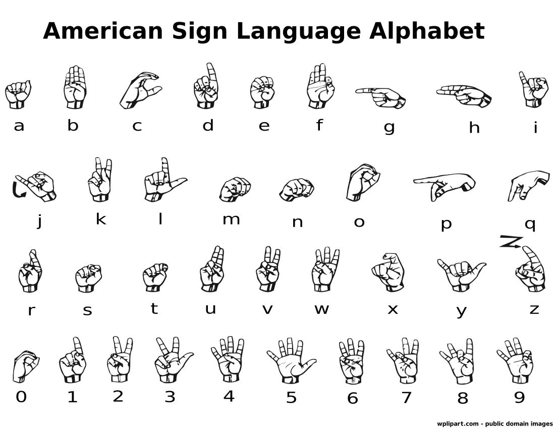 Clipart sign language alphabet clip free Sign Language Alphabet Clipart - Clipart Kid clip free