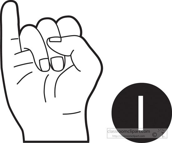 Clipart sign language alphabet graphic black and white library Sign language alphabet clipart - ClipartFest graphic black and white library