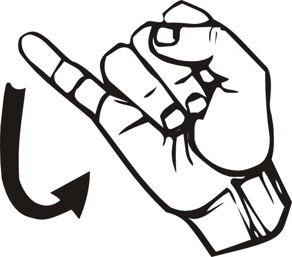 Clipart sign language alphabet jpg royalty free library Sign Language J Clip Art at Clker.com - vector clip art online ... jpg royalty free library