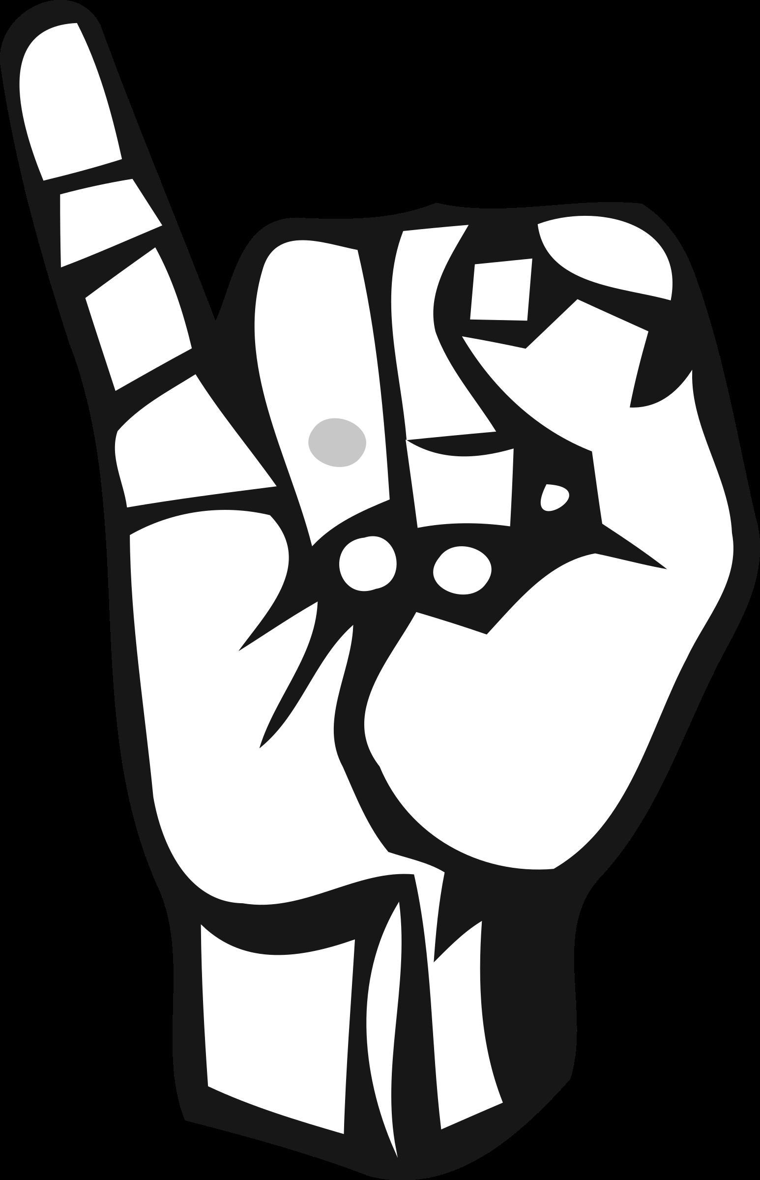 Clipart sign language alphabet vector Clipart - Deaf Alphabet I vector