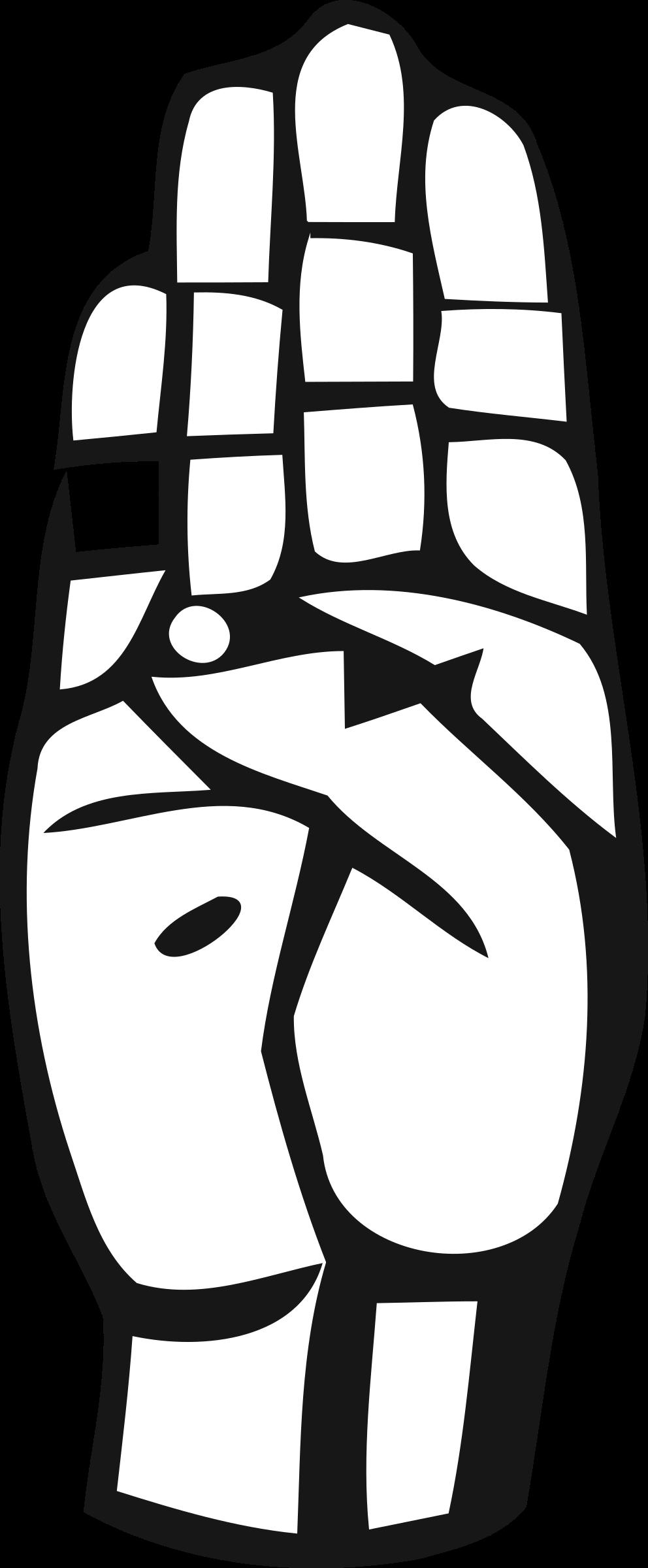 Clipart sign language alphabet clip freeuse download Clipart - Deaf Alphabet B clip freeuse download