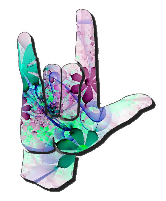 I Love You Sign Language Clip Art | ASL Clip Art 5-4 I Love You ... banner royalty free