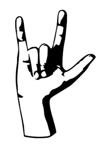 I love you sign language clipart png - ClipartFest clip stock