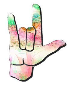 I Love You Sign Language Clip Art | ASL Clip Art 5-4 I Love You ... vector royalty free download