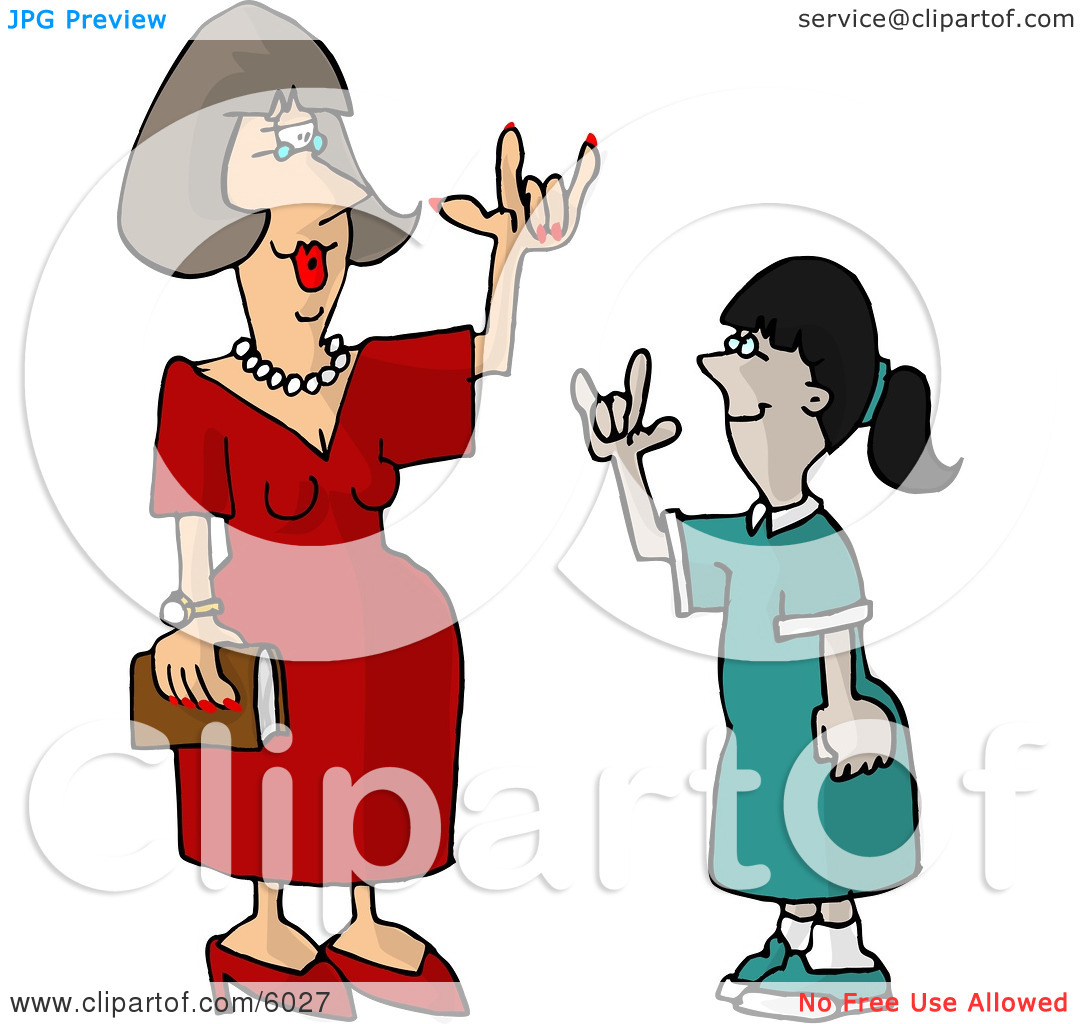 Clipart sign language pictures banner black and white stock Hearing Impaired Teacher Using Sign Language with a Student ... banner black and white stock
