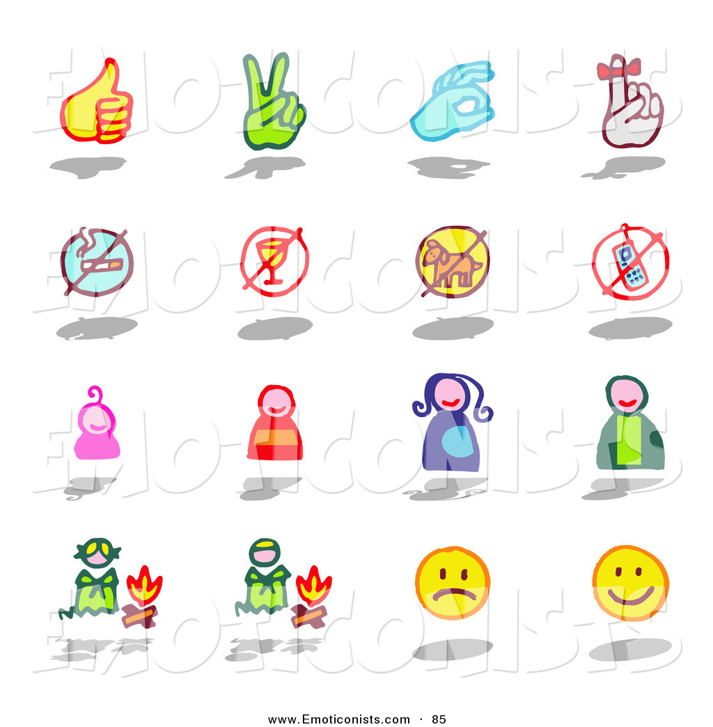 Clipart sign language pictures. Clip art of a
