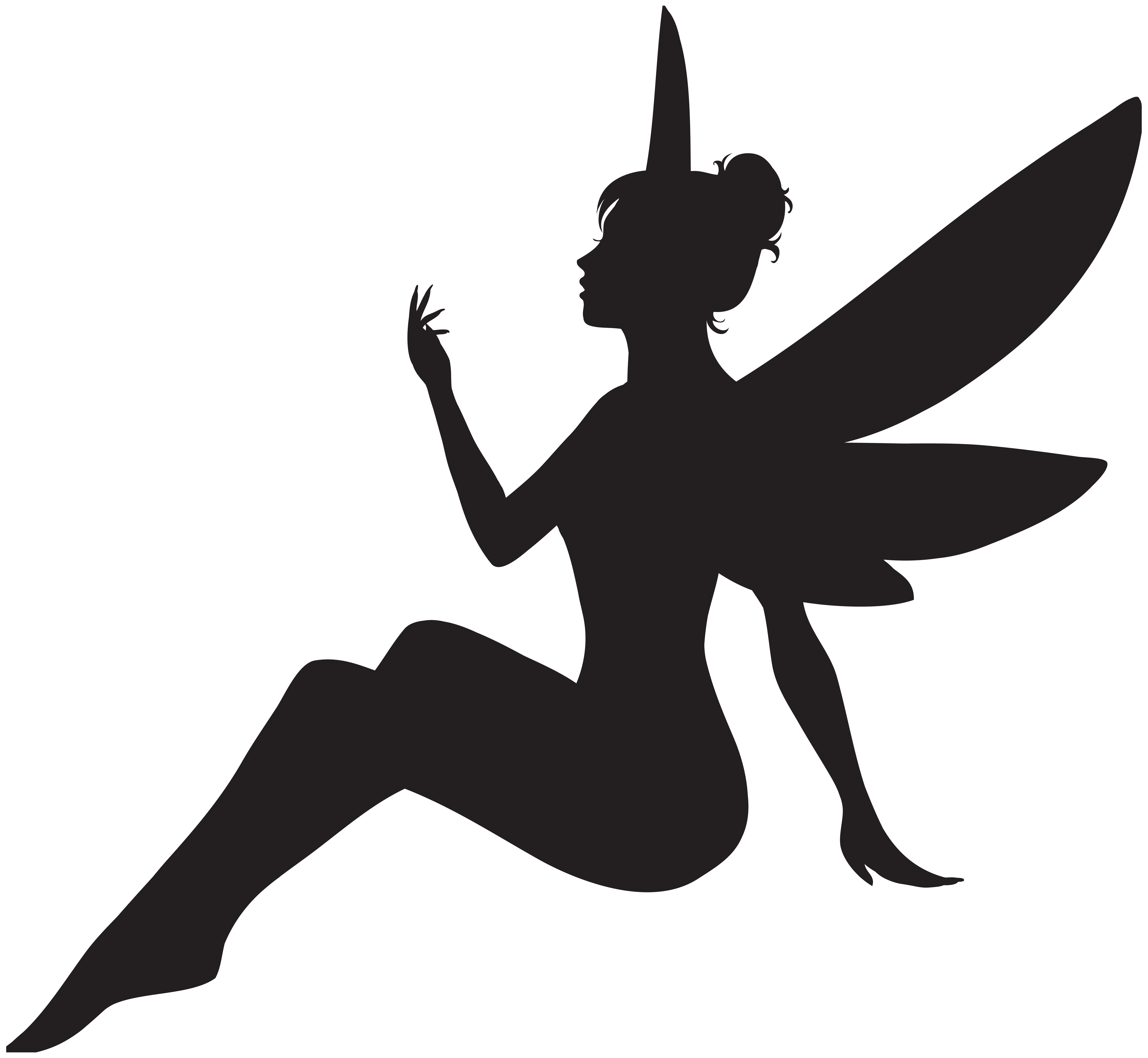 Clipart sihlouette png free download Fairy Silhouette PNG Clip Art Image | Gallery Yopriceville - High ... png free download