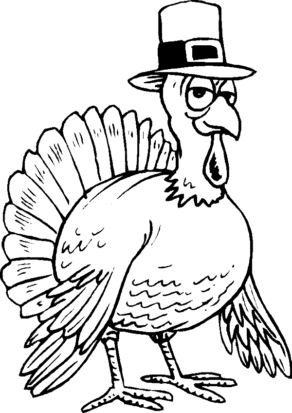 Thanksgiving cute clipart turkey with pilgrim svg stock Animals Coloring Pages • Page 11 of 17 • Got Coloring Pages svg stock