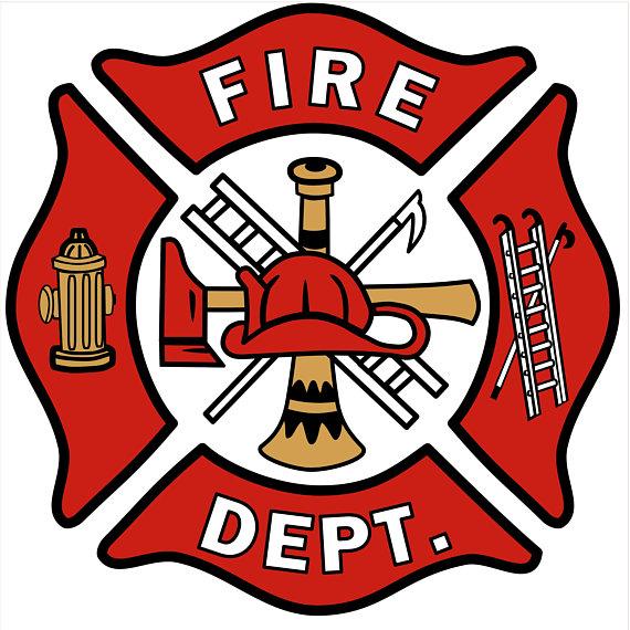 Clipart silhouettefirehouse vector transparent Fire Department Logo - Firefighters - Silhouette Cut Files - Jpeg ... vector transparent
