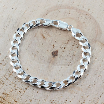 Clipart silver bracelets price graphic library library Silver Curb Bracelet 7.6mm Width graphic library library