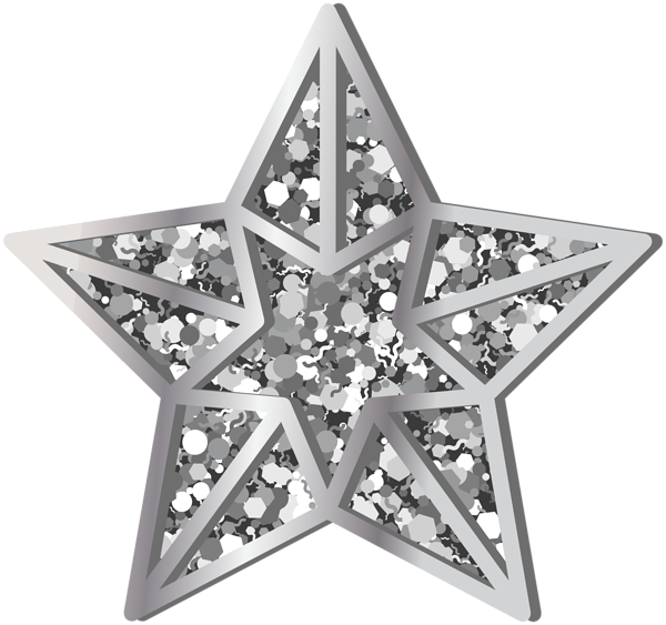 Clipart silver star clipart royalty free Star Silver Transparent PNG Clip Art | Gallery Yopriceville - High ... clipart royalty free